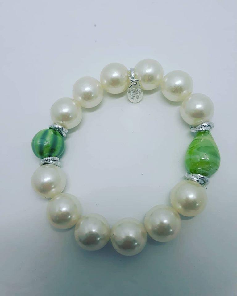 bracciale bianco e verde
