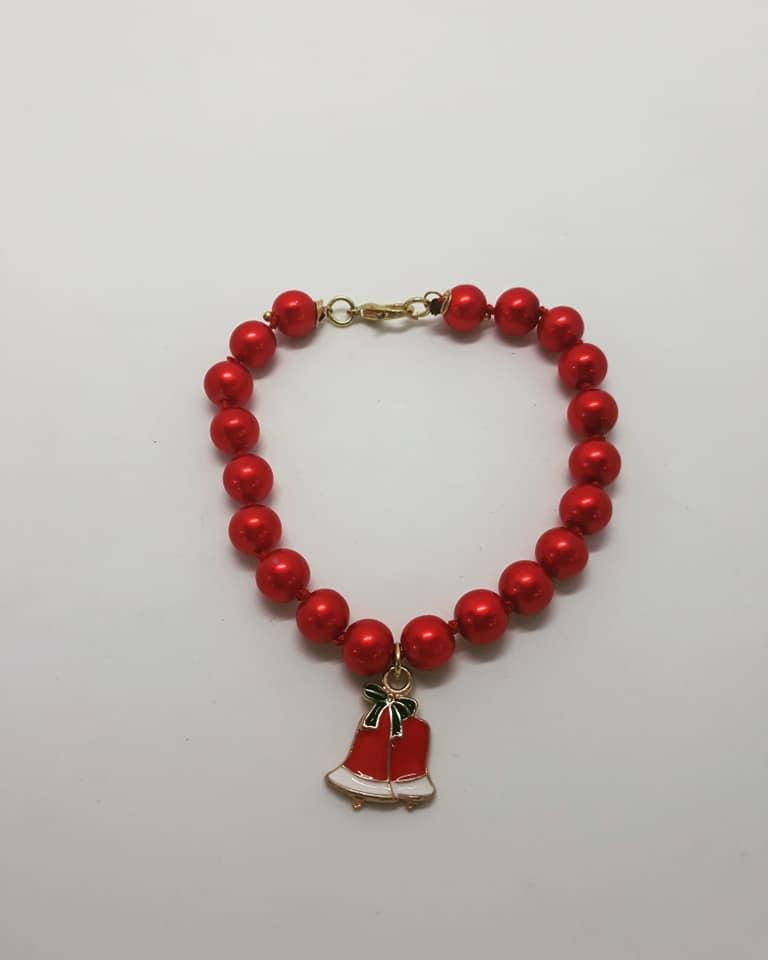 bracciale natalizio rosso