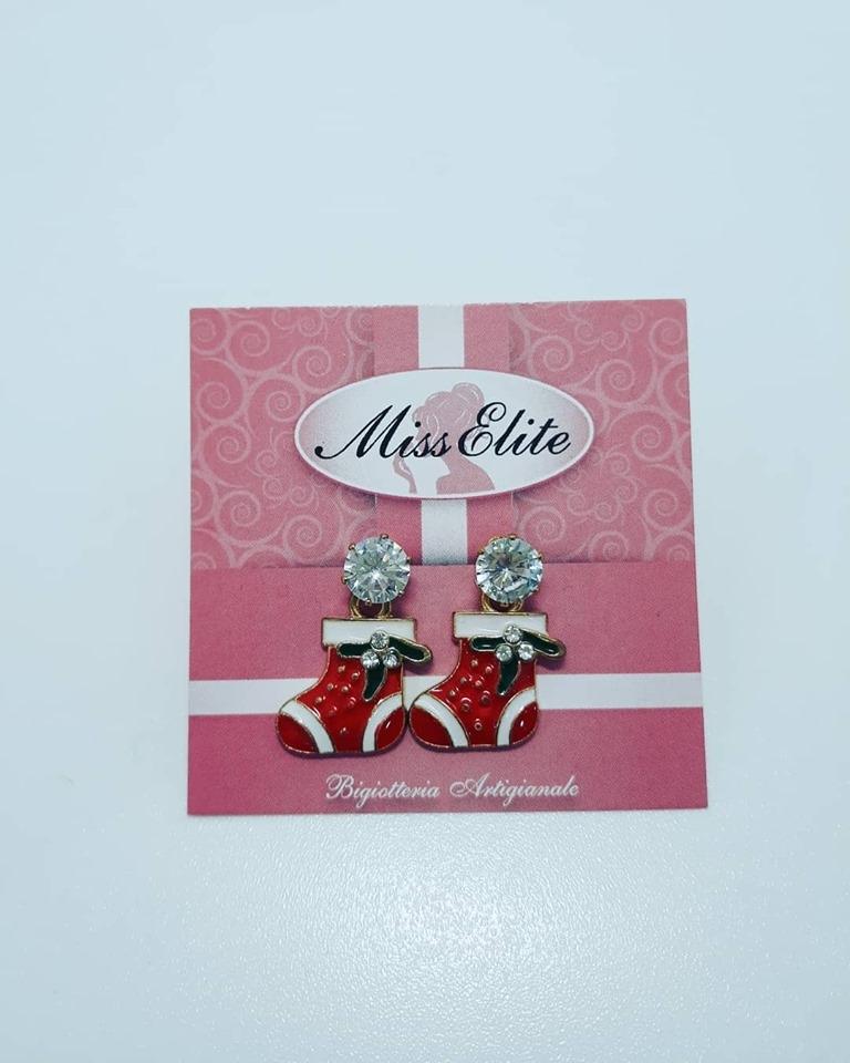 orecchini natalizi calza
