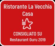 premio di eccellenza del Restaurant Guru