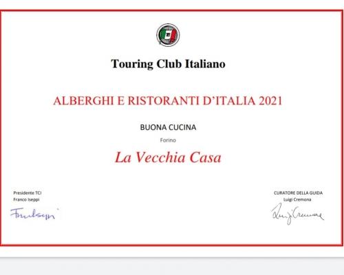 Riconoscimento Touring Club Italiano 2021
