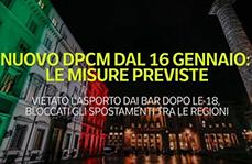COVID-19: In arrivo il 16 gennaio 2021 il nuovo DPCM