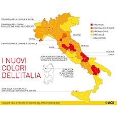 Da oggi lunedì 1° marzo cambiano i colori di alcune regioni: Cosa si può fare e non fare nei territori
