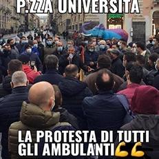 A Catania protestano gli ambulanti Fenailp