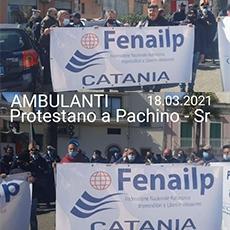 """Pachino (Sr) sit-in di protesta della Fenailp Ambulanti - Sebastiano Coco: """"Riaprire la fiera quindicinale"""""""
