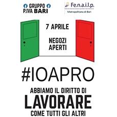 """Fenailp Metropolitana di Bari: A Gravina di Puglia """"Io Apro"""" manifestazione di protesta contro il perdurare della chiusura delle attività commerciali"""
